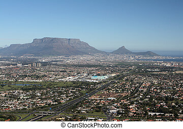Cape Town, South Africa and the world famous landmark Table...