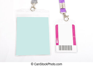 ID card badge - Blank ID card badge with copy space,...