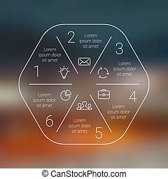 Circle line infographic Template for cycle diagram, graph,...