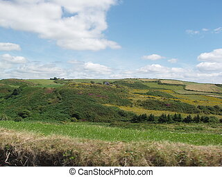 Countryside - A view of the countryside and bright sky.