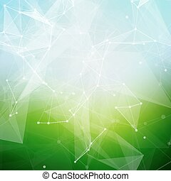 Abstract polygonal summer time low poly bright background...