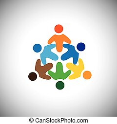 vector icon of happy, excited, joyous people circle This...