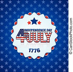 Independence day badge - American Independence day badge on...