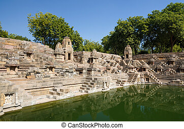 Stepwell at Sun Temple Modhera in Ahmedabad, Gujarat, India
