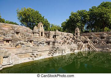 Stepwell at Sun Temple Modhera in Ahmedabad, Gujarat, India