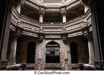 Adalaj Stepwell in Ahmedabad, Gujarat, India