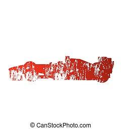 Abstract formula car