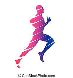 Colorful abstract runner