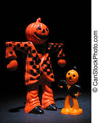 Rare Antique Halloween candy cup and cake topper of...