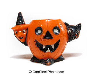 Rare Antique Halloween candy cup - Rare antique plastic...