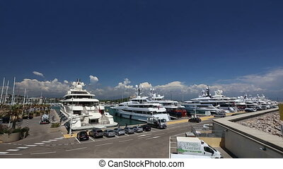 Antibes harbor France Cote d'Azur - DSLR Full HD progressive...