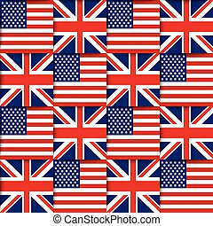 American and British seamless pattern - Seamless pattern...