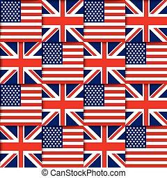 American and British seamless pattern - Seamless pattern...