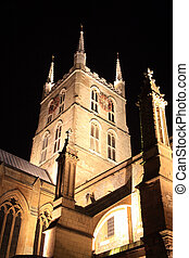 Southwark Cathedral at Night - Southwark Cathedral at night...