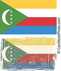 Comoros grunge flag Vector illustration Grunge effect can be...