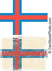 Faroe Islands grunge flag Vector illustration Grunge effect...