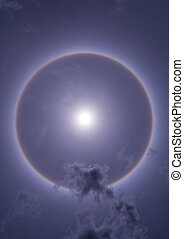 sun halo - fantastic beautiful sun halo phenomenon in...