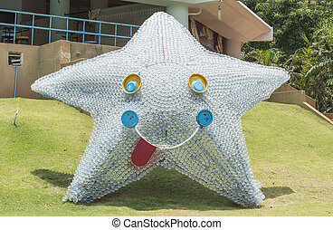 Star made of Used plastic bottles