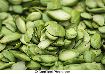 Tropical stinking edible beans Parkia Speciosa - Close up...