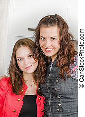 Portrait of two young pretty women