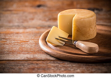 Hard cheese - Traditional italian hard cheese still life
