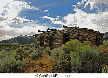Mountain cabin - old cabin in the mountains for miners or...