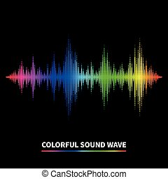 Sound wave background - Colorful sound wave background...