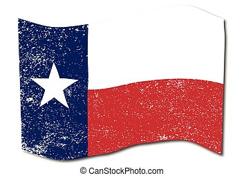 Waving Texas State Flag - The flag of the USA state of TEXAS...