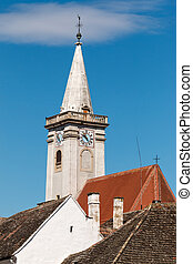 Steeple - White steeple from Austria