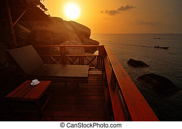 Exotic Beach Sunset - Exotic Beach Bed at Sunset