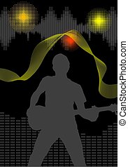 music background - Black background, music, rock...