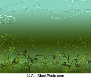 Flower gradient=background