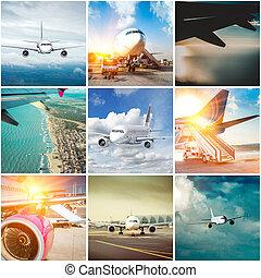 拼貼藝術, 相片, 飛機
