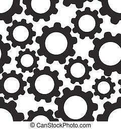Seamless pattern background with cogwheels. Vector