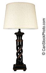 Contemporary Sculpted Wood Accent Table Lamp