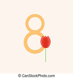 March 8 Womens Day Vector illustration