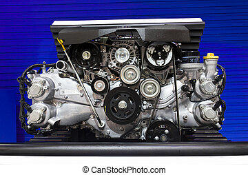 Subaru Boxer Engine 20 Litre on Display - NONTABURI,THAILAND...