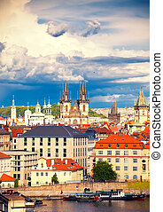 Church of Holy Lady before Tyn - View to Old Town Square and...