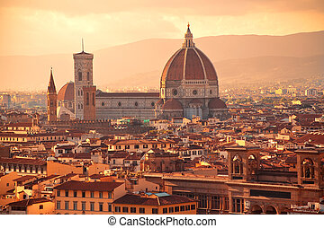 Florence - Beautiful view to Santa Maria del Fiore,...