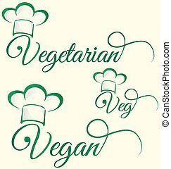 vegetarian and veg symbol menu