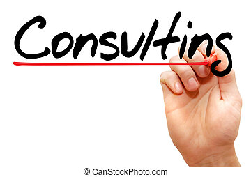 Hand writing Consulting, business concept - Hand writing...