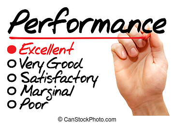 Performance evaluation form, business concept