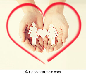 womans hands with paper women - love, family and happiness...