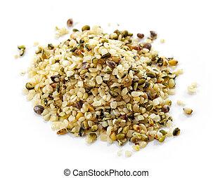 montón, de, cáñamo, semillas,