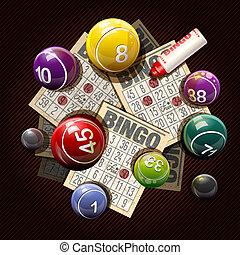 ビンゴ, カード, ボール, 宝くじ, ∥あるいは∥