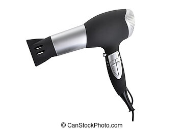 hair dryer (isolated on white) - hair dryer on white