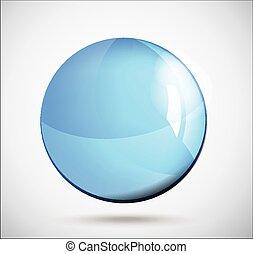 Glass sphere, vector illustration.