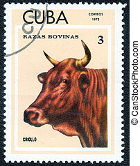 postage stamp - CUBA - CIRCA 1973: A Stamp printed in CUBA...