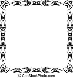 Gothic pattern - Framework drawn by a Gothic black pattern