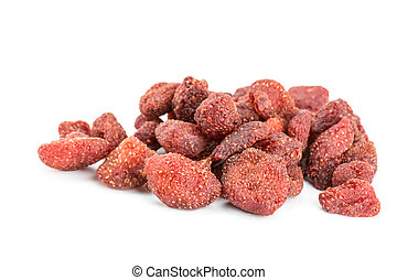 Dried of strawberry isolated on white background